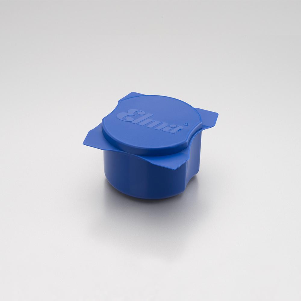 Reinigungsbecher mit Deckel 95/90/55 mm, blue