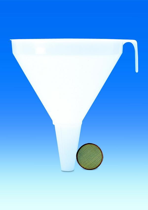 Fasstrichter, PP, Ø 200 mm, 1300 ml, Länge 200 mm, Auslauf-Ø 22 mm, transparent