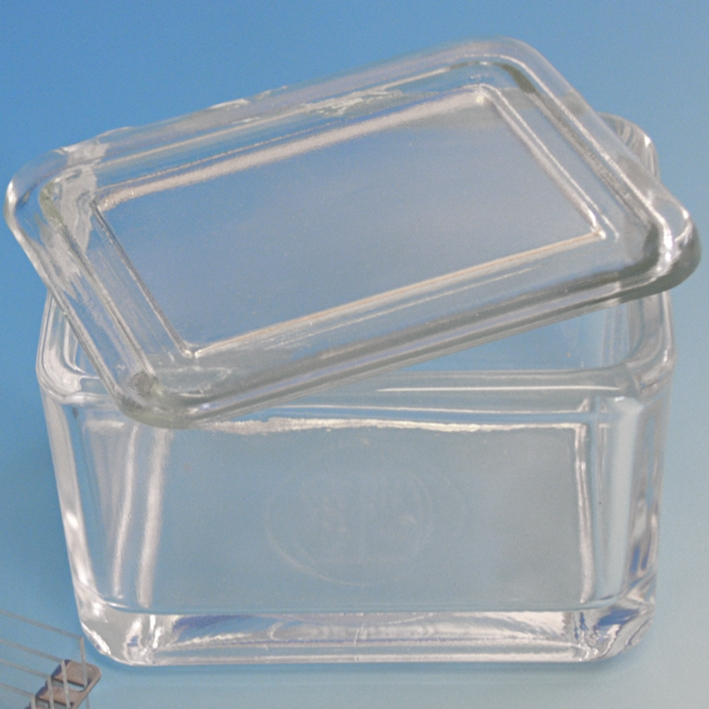 Glaskasten mit Deckel allein, 9 x 7 x 6,5 cm