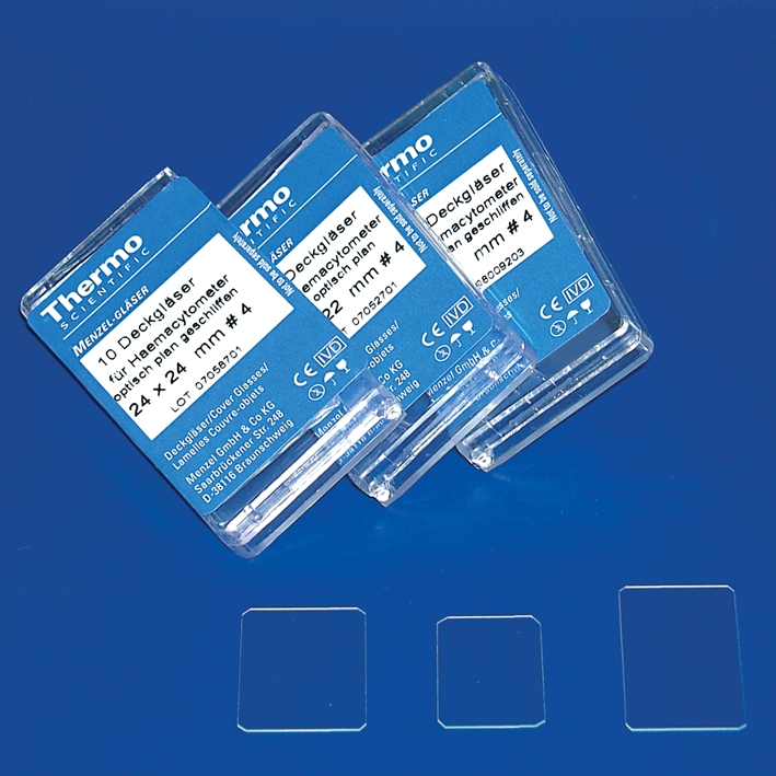 Haemacytometer Deckgläser, 22 x 22 (10 Stck.)
