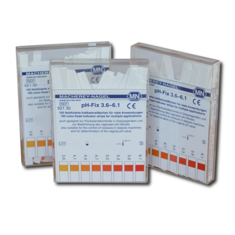 pH-Fix Indikatorstäbchen, 3,6 - 6,1 (100 T.)