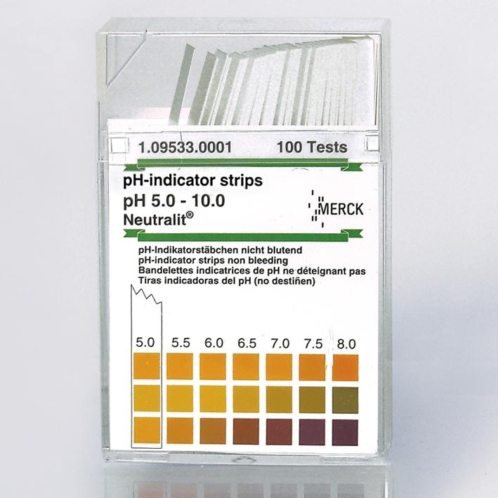 pH-Indikatorstäbchen nicht blutend, pH 5-10 Neutralit (1x100 T.)