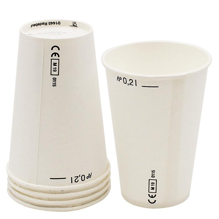 Trinkbecher aus Papier, 200 ml, weiß (100 St.)
