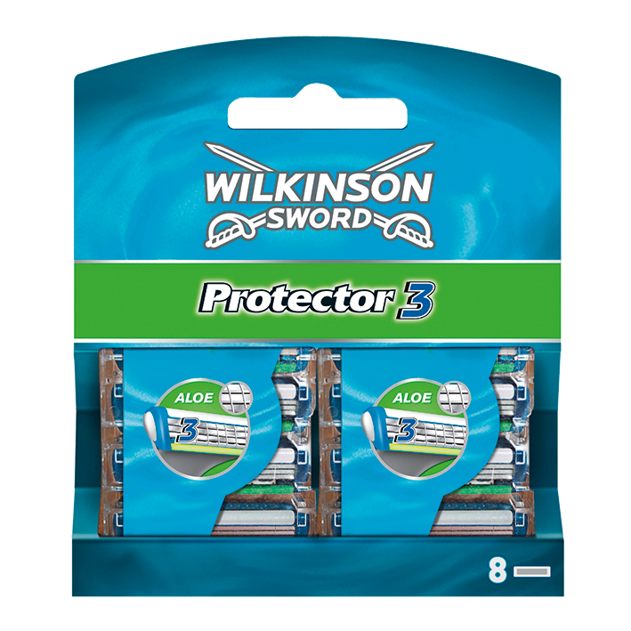 Ersatzklingen Typ 5136 für Wilkinson, Protector 3 (8 Stck.)