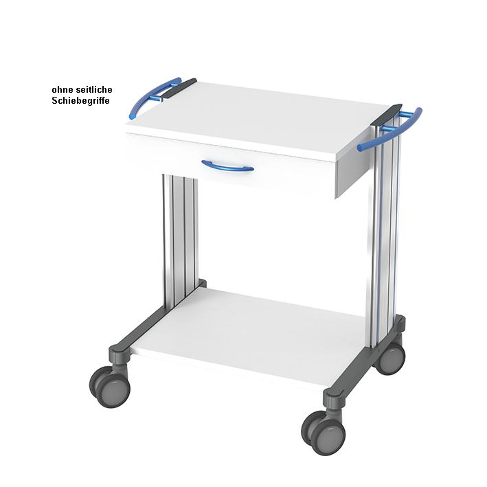 swingo Basiswagen 60, 1 Schublade, Dekorstreifen und Schubladengriff blau