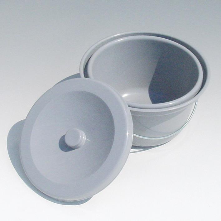 Toiletteneimer kpl. mit Deckel und Bügel, grau