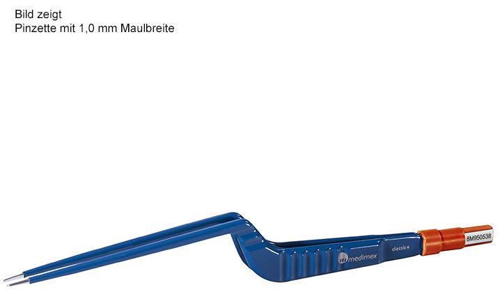 Bipolare Pinzette classic+, bajonett, Spitzenform gerade, Maulbreite 2,0 mm, Länge 200 mm