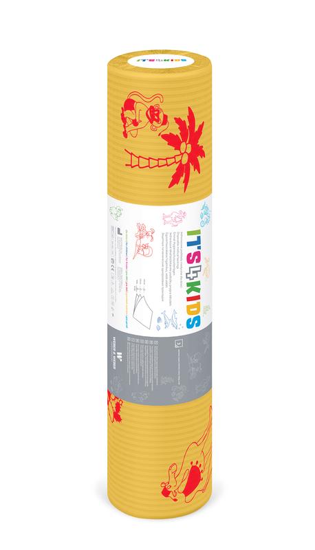 Ärztekrepp ITS4KIDS, 50cm x 40mtr., Gelb, Tissue-PE, 6 Rollen