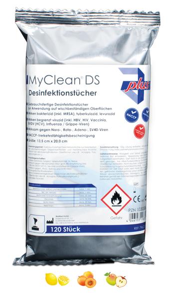 MyClean DS Schnellde-tü Refi getr-Pfirsich, 120 Stk.