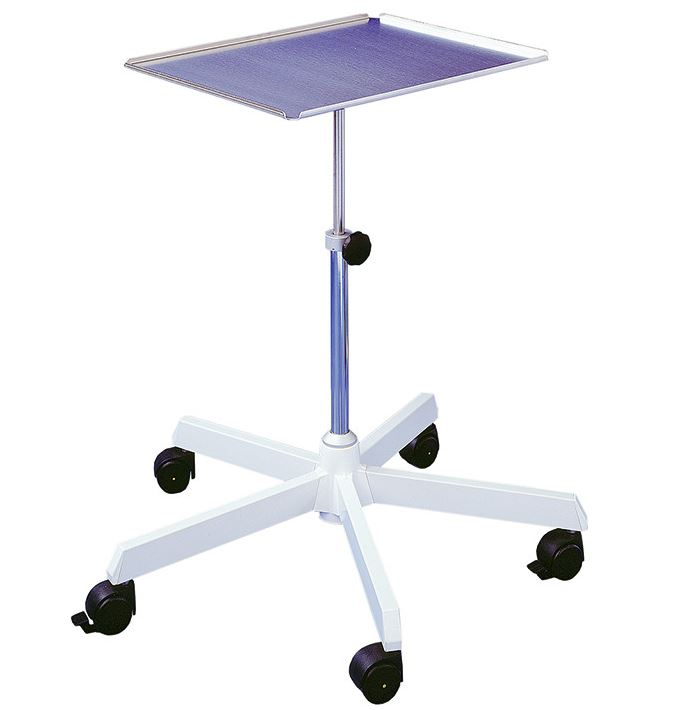 Instrumenten-Arzttisch, höhenverstellbar von 53-72 cm
