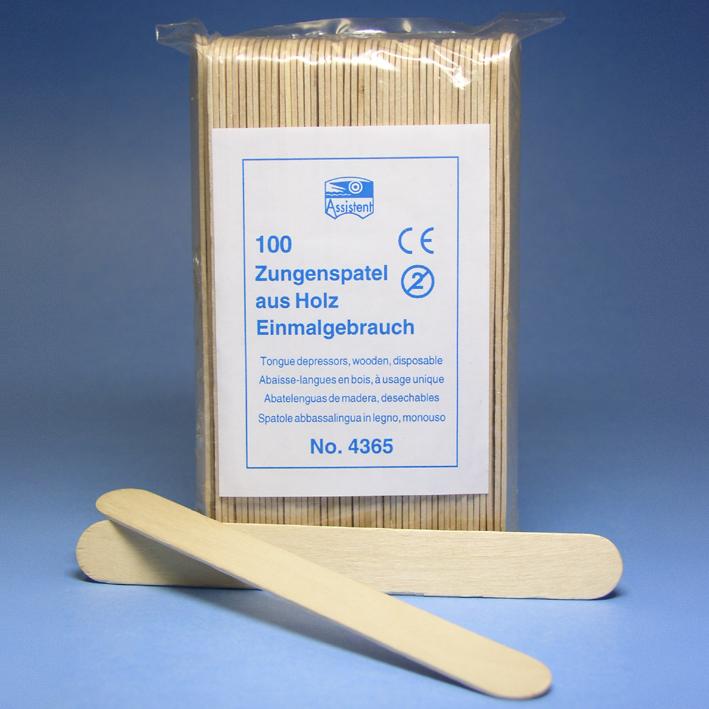 Zungenspatel aus Holz (100 Stck.)