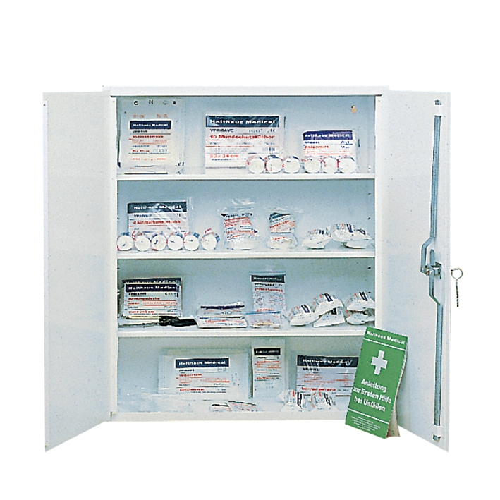 Verbandschrank SECURITAS, Stahlblech 60 x 70 x 25 cm, weiß, leer
