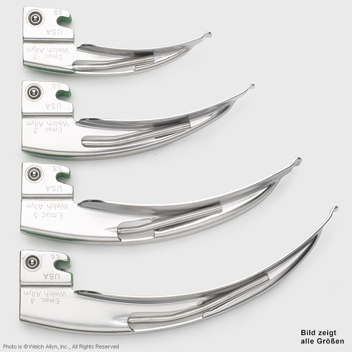 Fiber Optik English Macintosh, Laryngoskop Spatel Grösse 1