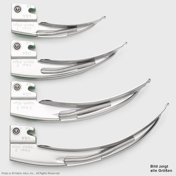 Fiber Optik English MacIntosh, Laryngoskop Spatel Grösse 2