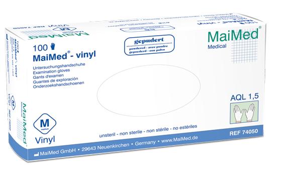 Vinyl-Handschuhe gepudert Gr. L, unsteril, 100 St./Box