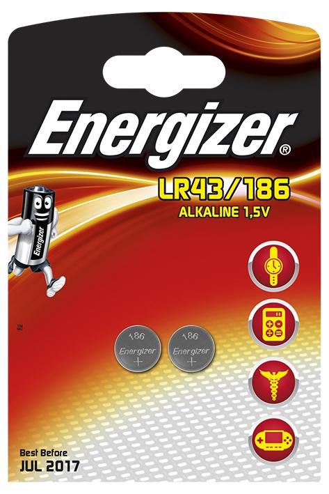 Energizer Spezialbatterie 186, Typ LR43 1,5 V (2er-Pack)