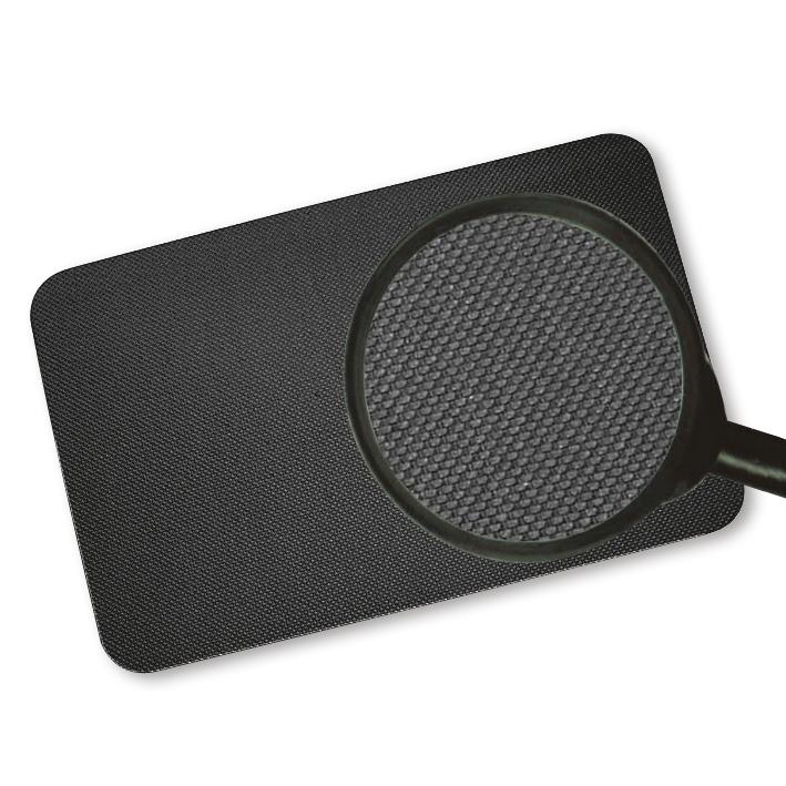 Fußmatte/Liegenauflage, schwarz 800 x 600 x 6 mm