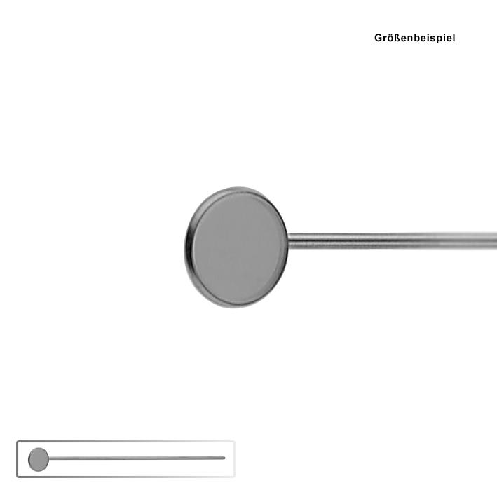 Kehlkopfspiegel ohne Griff, Fig. 3, Ø 16 mm