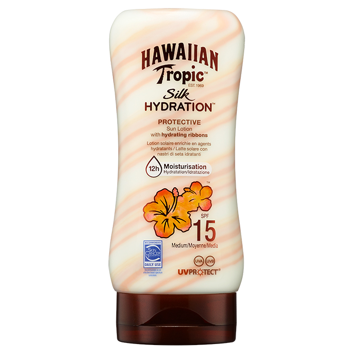Hawaiian Tropic Silk Hydration Lotion, 180 ml mit LSF 15 #Y000060704#