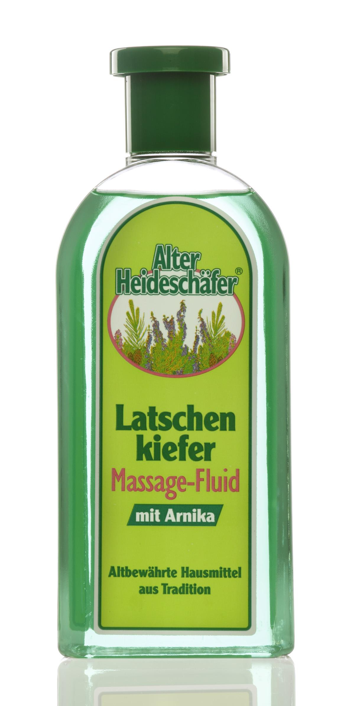 Alter Heideschäfer Latschenkiefer-, Massage-Fluid mit Arnika 500 ml