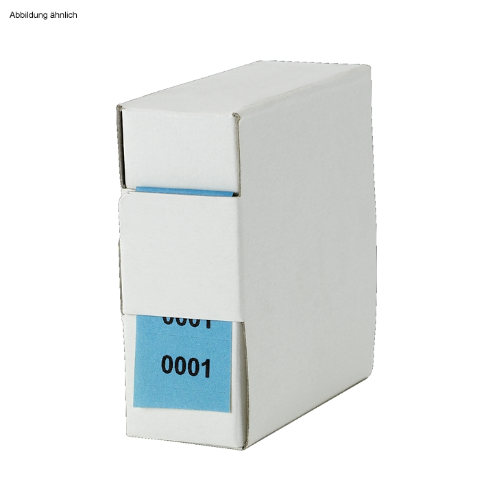 Archiv-Nummern, doppelt 1001 - 2000, blau