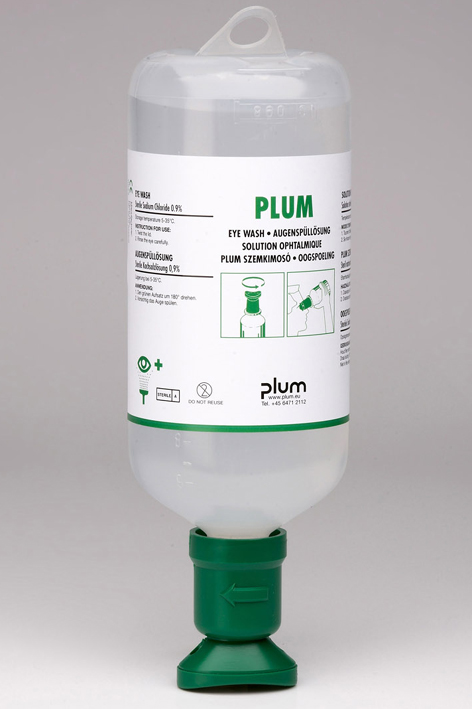 Plum Augenspülflasche 1000 ml, (0,9 % Natriumchloridlösung)