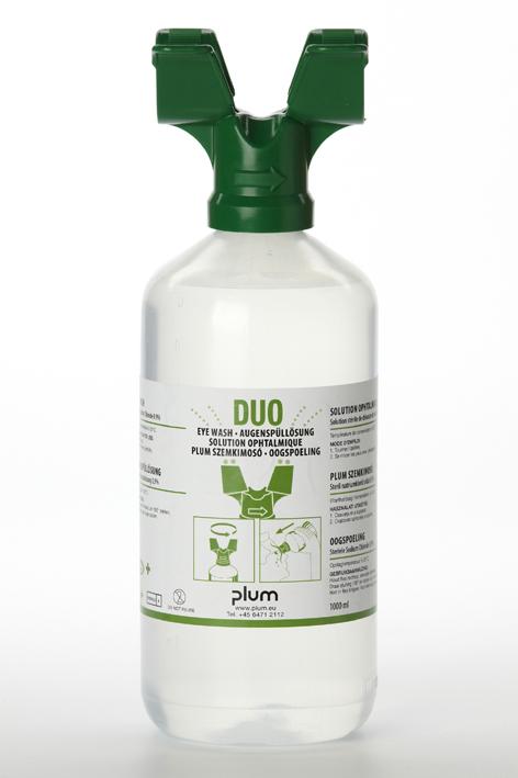 Plum Augenspülflasche Duo 1000 ml, (0,9 % Natriumchloridlösung)