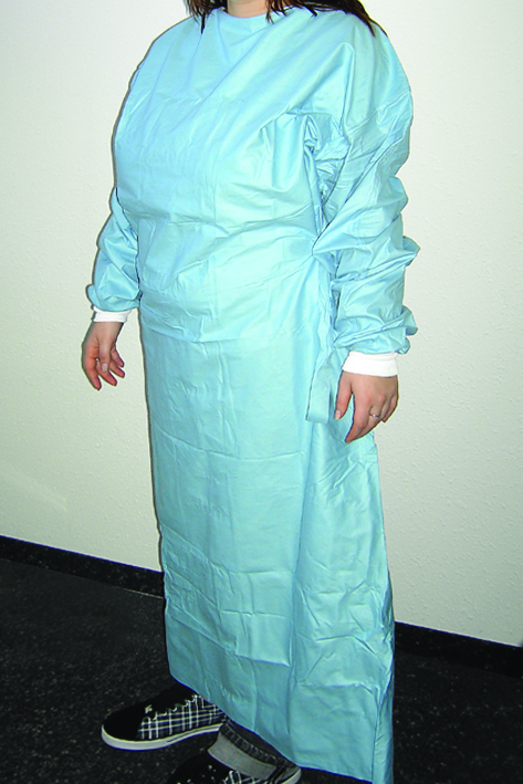 NOBADRESS-Comfort OP-Kittel, blau, Gr. L