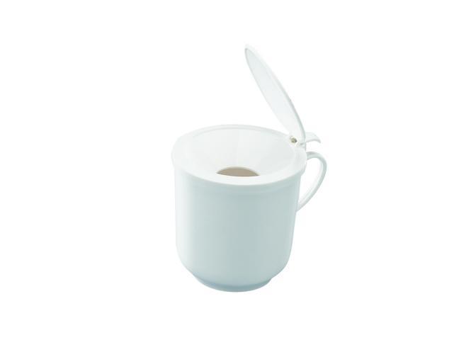 Sputumbecher 400 ml, weiß