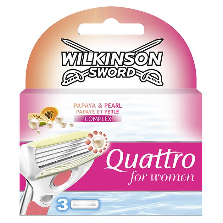 Ersatzklingen Typ 4143V für Wilkinson Quattro Typ 5380L for Women (3 Stck.)