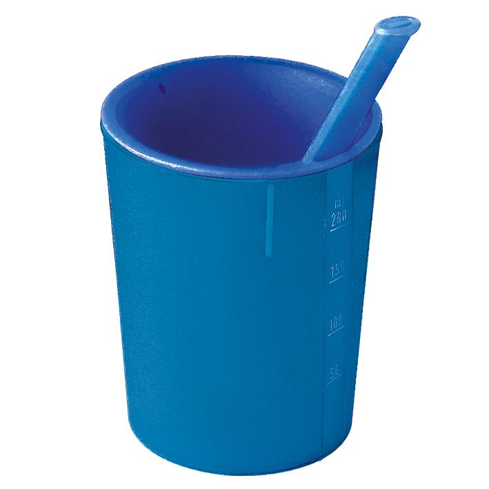 medizinische Trinkhilfe blau-blau, 200 ml