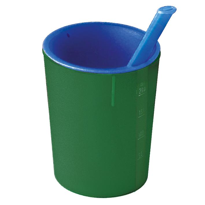 medizinische Trinkhilfe grün-blau, 200 ml