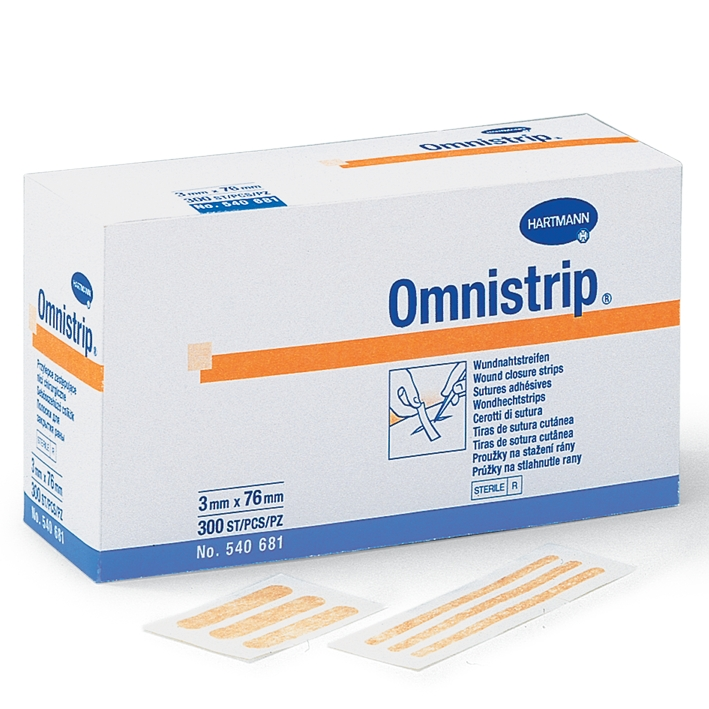 Omnistrip Wundnahtstreifen steril, 6 x 76 mm (150 Stck.)
