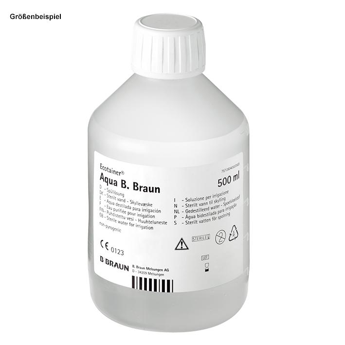 Aqua B. Braun Spüllösung (10x500ml), Ecotainer