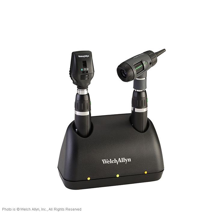 Diagnostik Set 3,5 V Coaxial, Ophthalmoskop, MacroView Otoskop