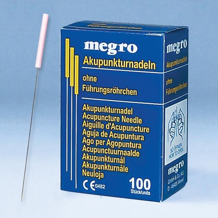 Akupunkturnadeln 0,30 x 50 A3, Plastikgriff (100 Stck.)