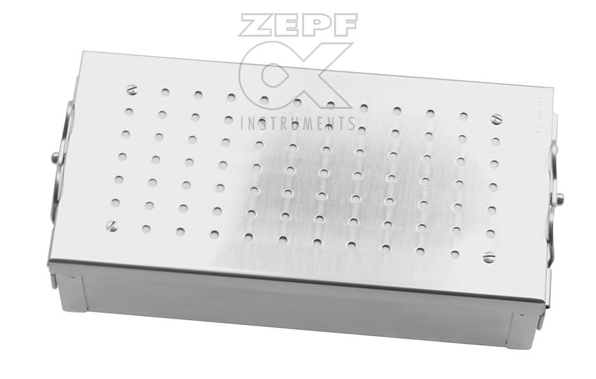 Sterilisierbehälter 17 x 12 x 4 cm mit Filtern in Deckel und Boden
