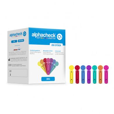 alphacheck soft Rainbow Lanzetten 30 G x 3 mm (200 Stck.)