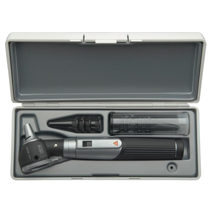 mini 3000 F.O. Otoskop-Set 2,5 V schwarz, Batteriegriff mini 3000 m. Batterien
