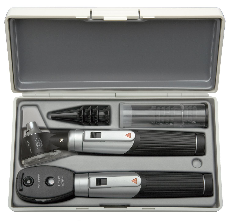 mini 3000 Diagnostik-Set 2,5 V schwarz, 2 Batteriegriffen mini 3000, mit Batterien