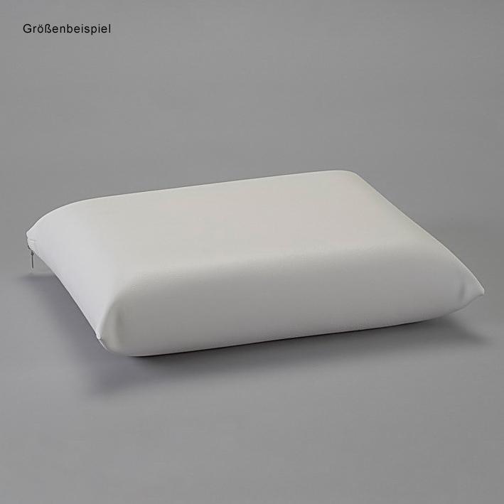 OP-Kissen, Kunstlederbezug weiß 40 x 40 cm, Höhe 10 cm