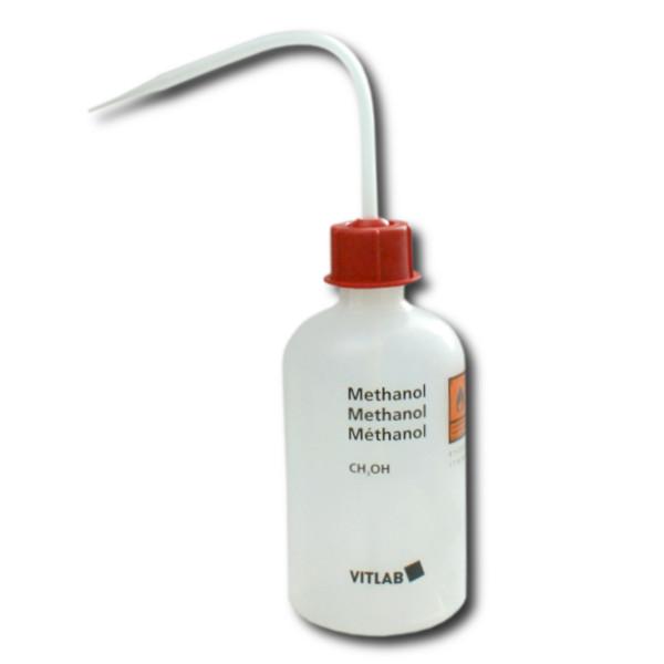 VITsafe Sicherheitsspritzflasche, PE-LD, GL 25, Aufdruck: Methanol, 250 ml
