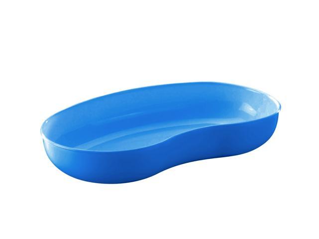 Nierenschale aus PP, blau transluzent, 260 x 137 x 40 mm