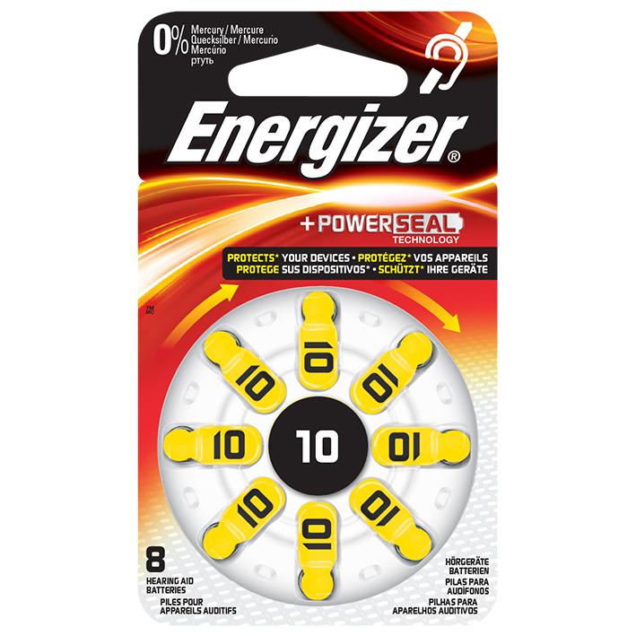 Energizer Batterie Typ 10 1,4 V, für Hörgeräte (8 Stck.)