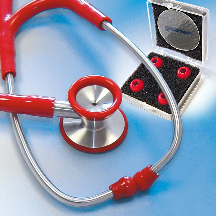 Stethoskop Edelstahl ratiomed, rot für Erwachsene