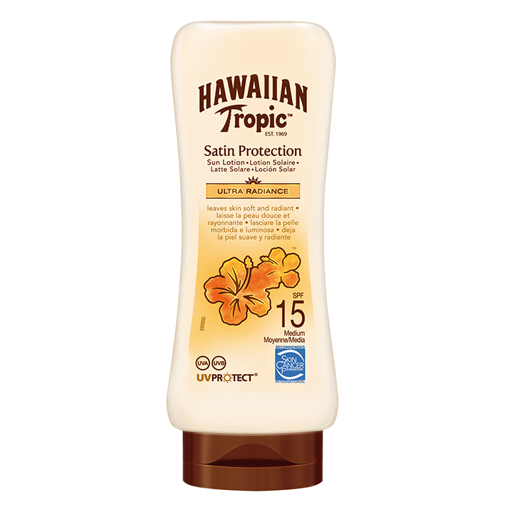 Hawaiian Tropic Satin Protection Sun, Lotion 180 ml mit LSF 15 #Y300457001#