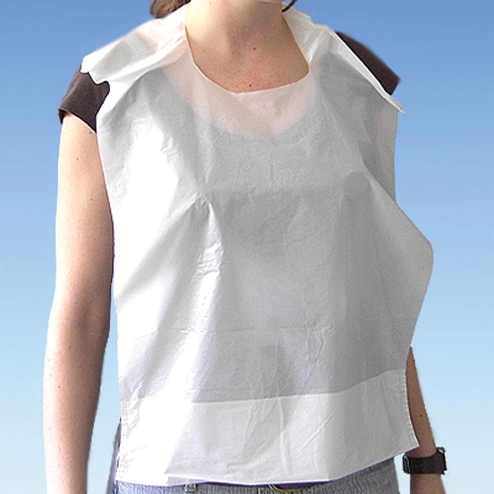 PE-Lätzchen mit Auffangtasche, weiß, 41 x 61 cm (100 Stck.)