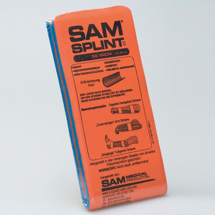 SAM-SPLINT Universalschiene, orange/blau, 11 x 91 cm, gefaltet