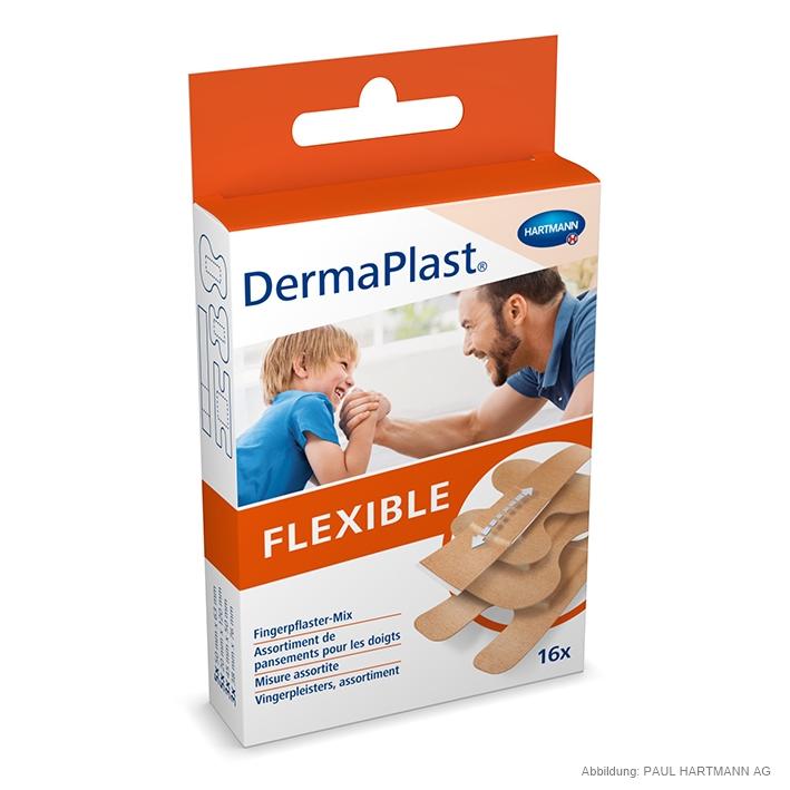 DermaPlast Flexible Fingerpflastermix, 4 Größen (16 Strips)