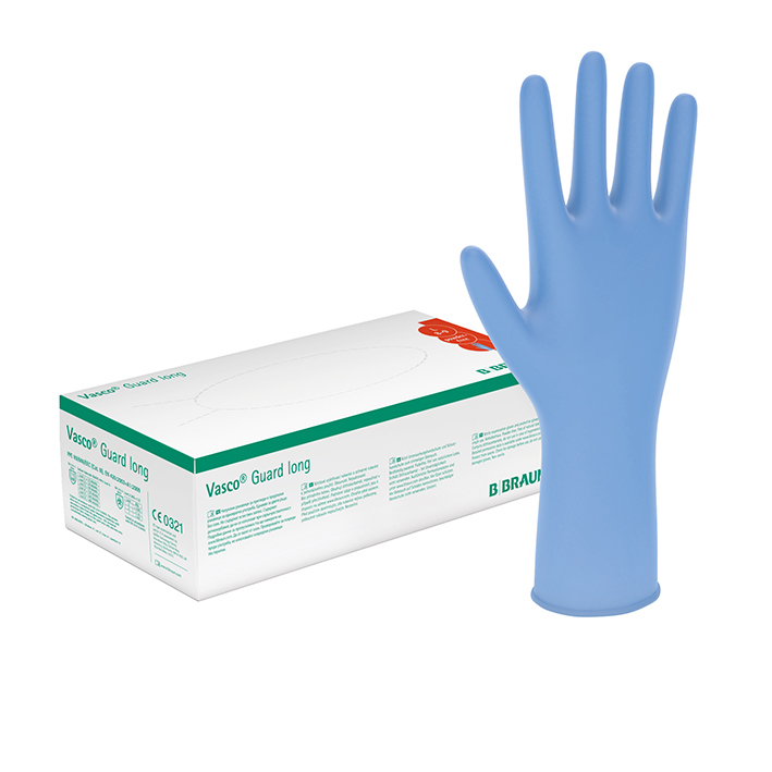 Vasco Guard long U.-Handschuhe, PF, Gr. XS, unsteril (100 Stck.)